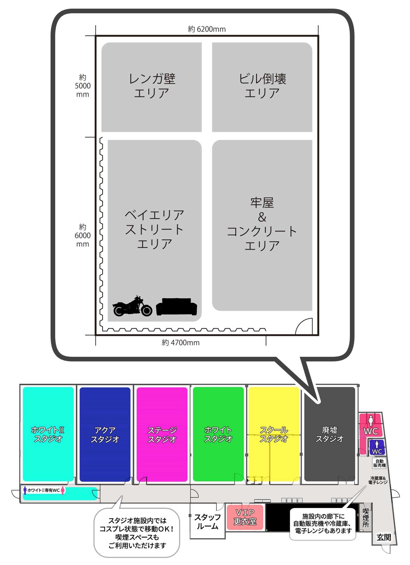 新大阪店廃墟スタジオ