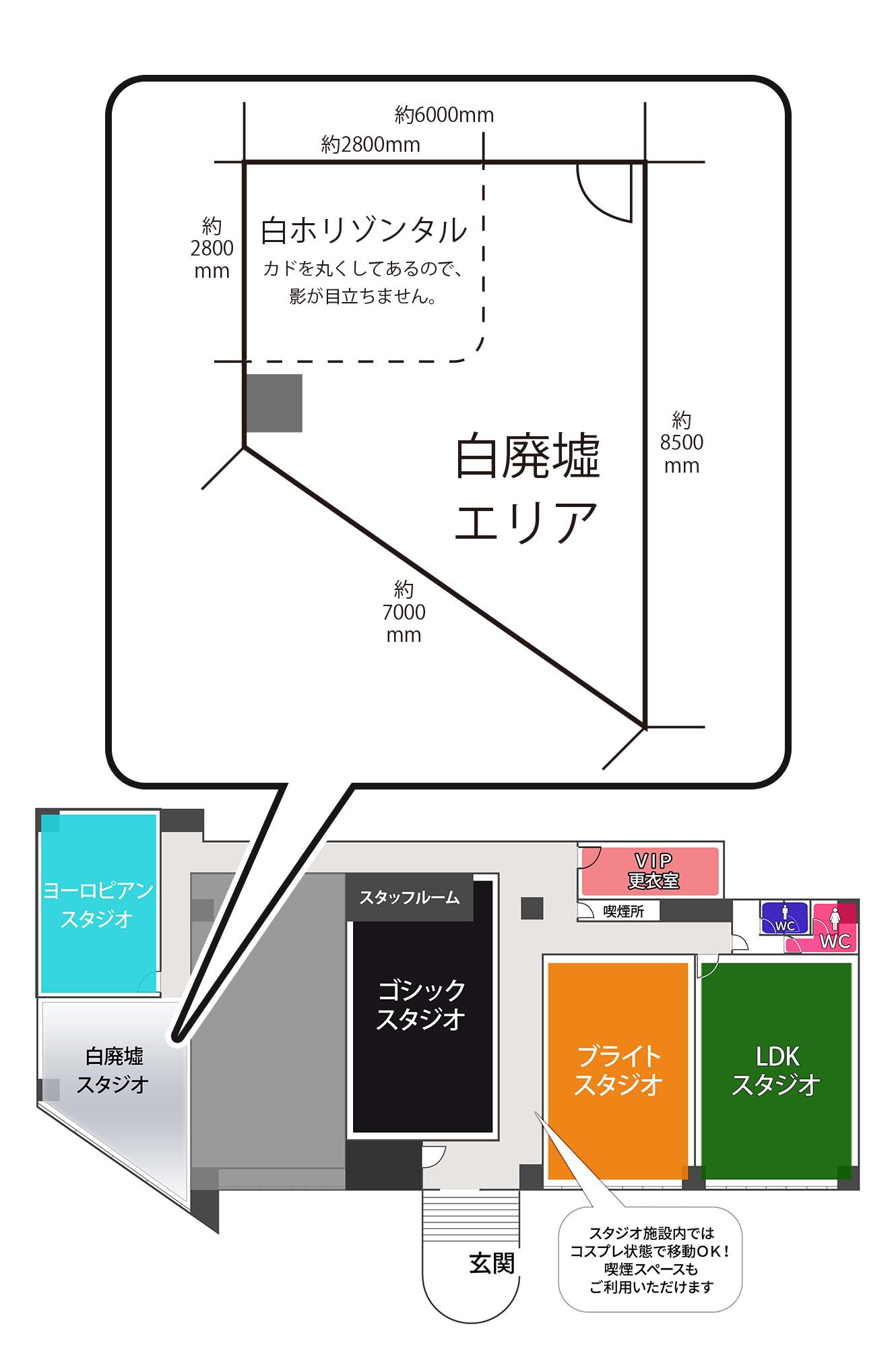 大阪平野店白廃墟スタジオ