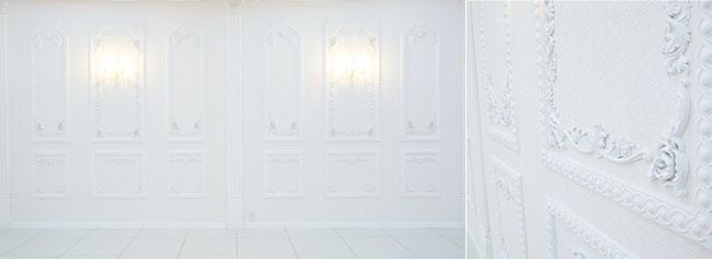 壁面は純白をイメージ。